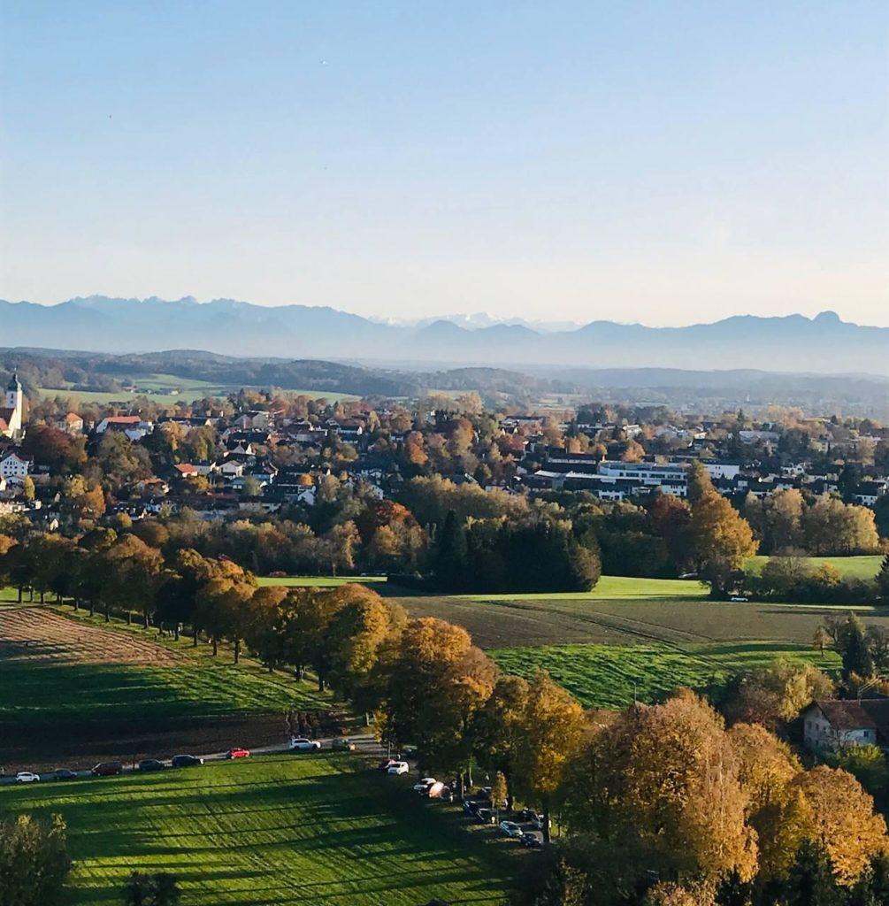 Blick auf Ebersberg